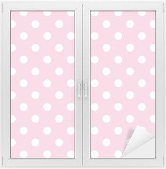 Naklejka na Szybę i Okno Kropki na różowym tle dziecko Wektor powtarzalne deseń retro