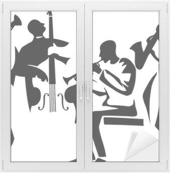 Naklejka na Szybę i Okno Kwartet jazzowy
