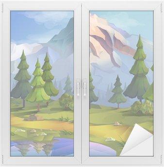 Naklejka na Szybę i Okno Landscape, nature vector background