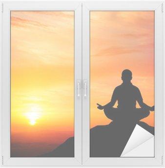 Naklejka na Szybę i Okno Medytacja