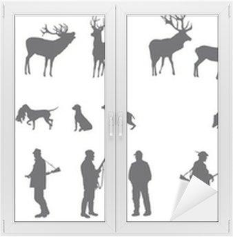 Naklejka na Szybę i Okno Motyw polowania zwierząt i krajobrazów