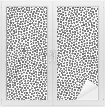 Naklejka na Szybę i Okno Polka dot tle, bez szwu. Czarny i biały. ilustracji wektorowych EPS 10