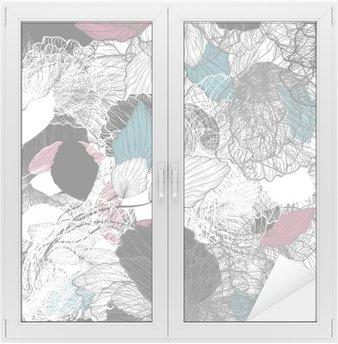 Naklejka na Szybę i Okno Powtarzalny streszczenie kwiatowy wzór