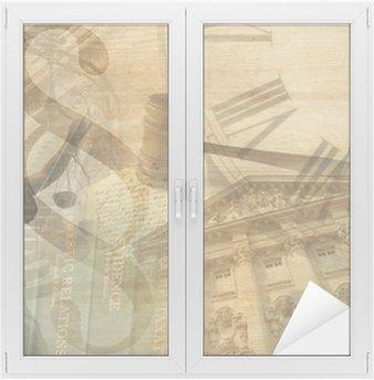 Naklejka na Szybę i Okno Sprawiedliwości collage