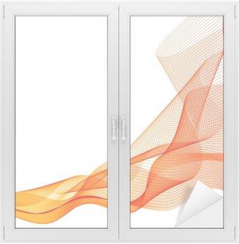Naklejka na Szybę i Okno Streszczenie wektora pomarańczowe tło fala machnął linii