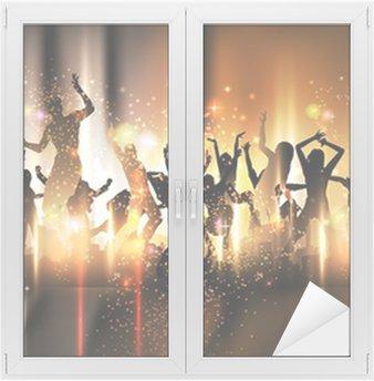Naklejka na Szybę i Okno Strona dźwięku tła rysunku z tańczących ludzi