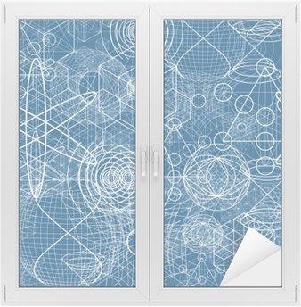 Naklejka na Szybę i Okno Święte symbole i elementy geometryczne tapety Jednolite wzór