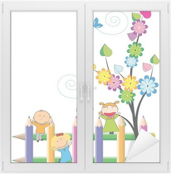 Naklejka na Szybę i Okno Szczęśliwe dzieci