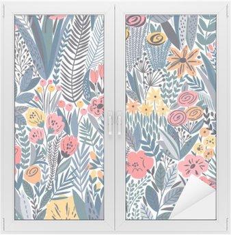 Naklejka na Szybę i Okno Tropical szwu kwiatowy wzór