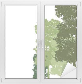 Naklejka na Szybę i Okno Wektor drzewo