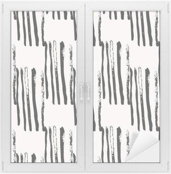 Naklejka na Szybę i Okno Wyciągnąć rękę abstrakcyjne bez szwu