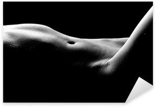 Naklejka Pixerstick Nagie zdjęcia bodyscape z kobietą