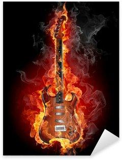 Naklejka Pixerstick Nagrywanie gitary rockowej