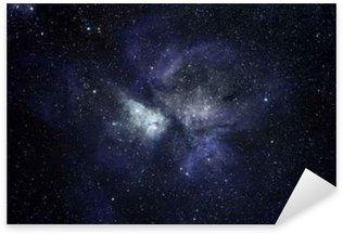 Naklejka Niebieskie tło przestrzeni