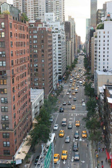 Naklejka Nowy Jork, Manhattan, USA - Pejzaż miejski