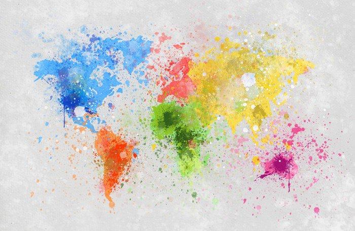 Naklejka Obraz mapa świata -