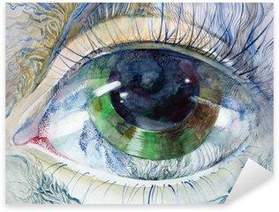 Naklejka Pixerstick Obraz pięknej ludzkiego oka