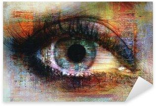 Naklejka Pixerstick Oczy tekstury