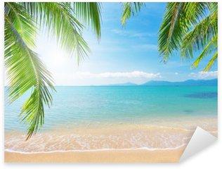Naklejka Palmy i tropikalna plaża