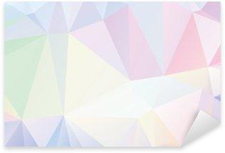 Naklejka Pixerstick Pastelowe wielokąta geometryczne