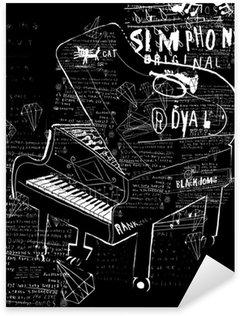 Naklejka Pianino