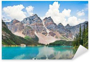 Naklejka Pixerstick Piękne Jezioro Moraine z Gór Skalistych w Albercie, Kanada