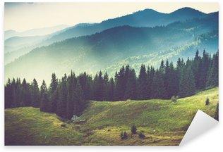 Naklejka Pixerstick Piękny górski krajobraz lato
