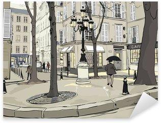 Naklejka Pixerstick Plac furstemberg w Paryżu