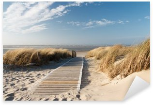 Naklejka Pixerstick Plaża Morza Północnego