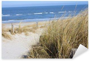 Naklejka Pixerstick Plaża Morze Północne