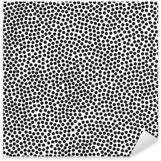 Naklejka Pixerstick Polka dot tle, bez szwu. Czarny i biały. ilustracji wektorowych EPS 10
