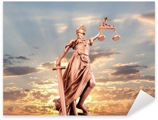 Naklejka Pixerstick Pomnik sprawiedliwości