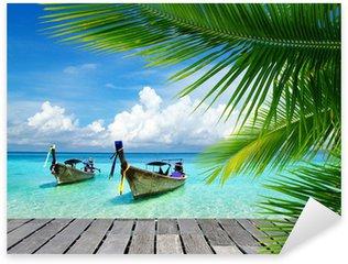 Naklejka Pixerstick Pomost z widokiem na tropikalne morze