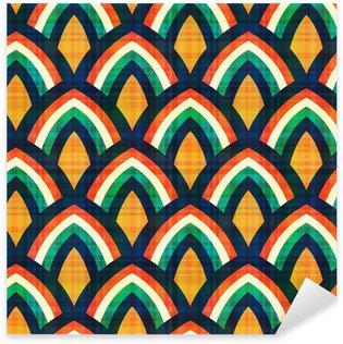 Naklejka Pixerstick Powtarzalny abstrakcyjny wzór geometryczny