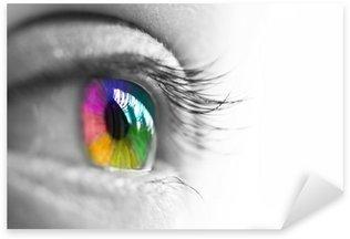 Naklejka Pixerstick Profil oko, wielokolorowe tęczówki