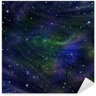 Naklejka Przestrzeń galaktyki obrazu, ilustracja