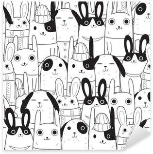 Naklejka Pixerstick Rabbit szwu