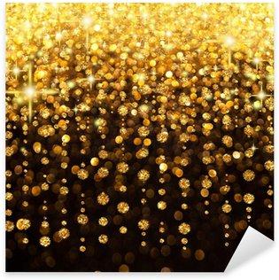 Naklejka Pixerstick Rain of Christmas Lights lub Party Background