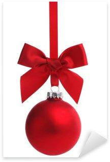 Naklejka Pixerstick Red christmas ball