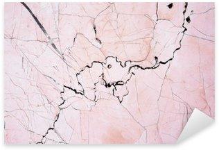 Naklejka Pixerstick Różowe światło marmuru kamień tekstury background.Beautiful różowego marmuru