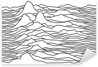 Naklejka Rytm fal, pulsara, linie wektora projektowania, przerywaną, góry
