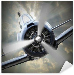 Naklejka Pixerstick Samolot śmigło.