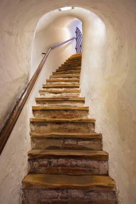 Naklejka Schody w zamku Kufstein - Austria - Style