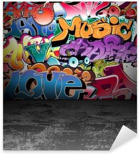 Naklejka Pixerstick Ściany graffiti urban street art painting
