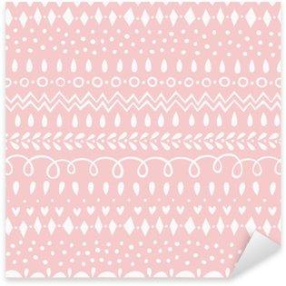 Naklejka Pixerstick Seamless Pattern Rose Quartz