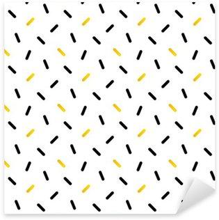 Naklejka Pixerstick Śliczne czarne i złote konfetti, geometryczny wzór bez szwu tła.
