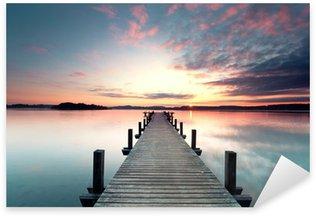 Naklejka Pixerstick Sommermorgen mit Sonnenaufgang