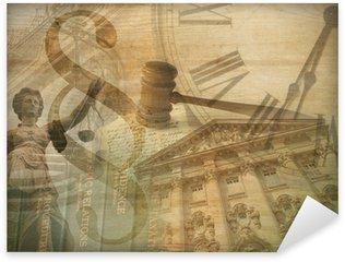 Naklejka Sprawiedliwości collage