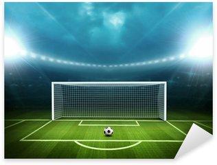 Naklejka Pixerstick Stadion z piłką nożną