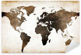 Naklejka Stara mapa świata
